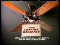 Vintage hunter fan vintage fans pinterest hunter fans and vintage hunter ceiling fan commercial in this age of copycat products and look a mozeypictures Choice Image
