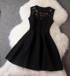 Beaded Dress in Black