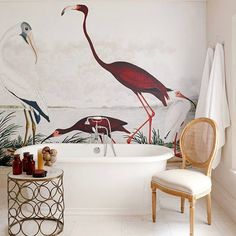 Home Decoration Ideas Apartments Bathroom Update: 3 Easy Ways To Transform Your Space Home Interior Design, Interior And Exterior, Interior Decorating, Bad Inspiration, Home Decor Inspiration, Bathroom Inspiration, Vintage Bird Wallpaper, Wall Design, House Design