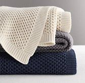 Chunky Cotton Knit Throw | Decorative Pillows | Restoration Hardware Baby & Child