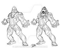 Image result for bigfoot drawing