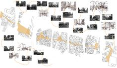 Psychogeographic Map of Paris - From Gare du Nord to Pont Neuf. We cannot judge Paris by its figure field; the ground plane extends into private spaces, public space become taken over by the private. Narrow medieval streets of panniers and crêperies cross wide boulevards of banques and auberges. The eye of the pedestrian is constantly in use as he traverses the city, north to south.