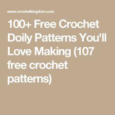100+ Free Crochet Doily Patterns You'll Love Making (107 free crochet patterns)
