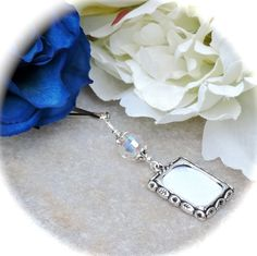 A thoughtful shower gift! Wedding bouquet Memorial picture charm by SmilingBlueDog, $8.99