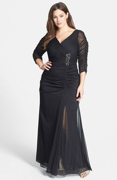 Adrianna Papell Beaded Mesh Gown (Plus Size) available at #Nordstrom