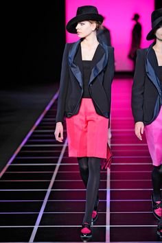 Look at those Shoes with those shorts, and that Jacket with that hat.... Giorgio Armani Fall 2012