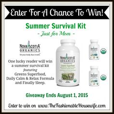 Enter To Win Novia Scotia Organics Summer Survival Kit