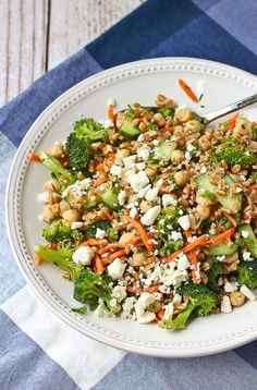 ThisFarro Salad with Za'atar and Broccoli is an unique salad that isperfect to eat as a full meal or as a side dish. My life has been lacking in za'atar consumption since I found out my little man N is allergic to sesame. However, I occasionally and very carefully sneak this flavorful spice mixture into my life (but not his, of course!). If you're unfamiliar with za'atar, it's a blend of seasonings that has a ton of flavor and is super versatile. It's most commonly ...