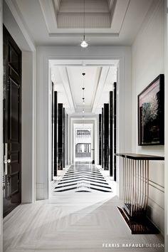 hallway   ceiling detail   floor pattern   Architecture by Ferris Rafauli