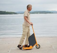 1 | This Electric Scooter Turns Into A Storage Cart With One Simple Move | Co.Design | business + design