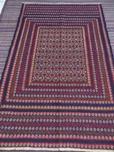 Size:6.5 ft by 4.4 ft Handmade Afghan Sumak Baluch Kilim