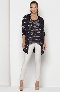 NIC+ZOE Tank, Cardigan & Knit Pants  available at #Nordstrom