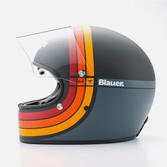 From over 60 years Blauer have been supplying technical garments for special forces of US Law Enforcement and the US Military. They have recently created a Helmets Collection, including this beautiful retro inspired helmet dubbed the Helmet, a v Cool Motorcycle Helmets, Racing Helmets, Cool Motorcycles, Motorcycle Style, Vespa Helmet, Motos Vespa, Vintage Helmet, Custom Helmets, Helmet Design