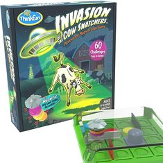 Amazon.com: Think Fun Invasion of The Cow Snatchers STEM Toy and Logic Game for Boys and Girls Age 6 and Up - A Magnet Maze Logic Puzzle: Toys & Games Games For Boys, Board Games For Kids, Old Games, Toys For Boys, Logic Games, Logic Puzzles, Creating Games, Challenging Puzzles, Images And Words