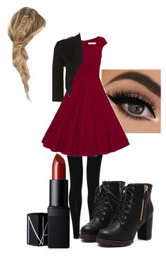 """""""hell on heelsfemale crowley"""" by lupuspyro on Polyvore featuring NARS Cosmetics, M&S Collection and Linea"""