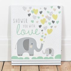 Shower You With Love Light Up Canvas