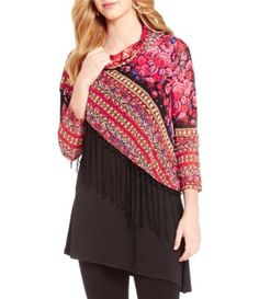 Shop for Calessa Fringe Overlay Cowlneck 3/4 Sleeve Tunic at Dillards.com. Visit Dillards.com to find clothing, accessories, shoes, cosmetics & more. The Style of Your Life.