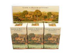 Sandalo (Sandalwood) Perfumed Soap Bar Collection by LErbolario Lodi (3 - 3.5oz Soap Bars)