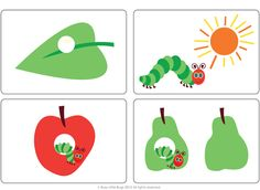The Happy Caterpillar Free flash cards