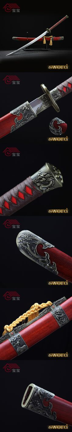 LQS15hj100040 dragon and phoenix sword vintage home decor Chinese sword $245.3