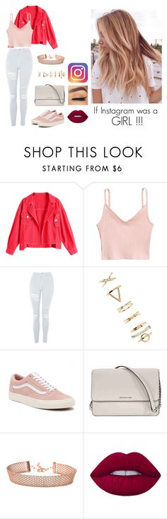 """""""If Instagram was a GIRL !!!"""" by inesfragosa on Polyvore featuring Topshop, Forever 21, Vans, Michael Kors and Lime Crime"""