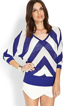 Open-Knit Chevron Sweater from FOREVER 21 on Catalog Spree, my personal digital mall.