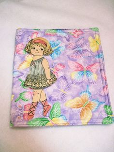 Playbook holder for fabric paper dolls by KellettKreations on Etsy