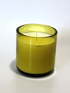 Hand Poured Soy Blend Candle in Hand Cut Recycled Wine Bottle by TwentyOneGlass on Etsy, $22.00