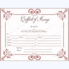 Marriage Certificate 05 - Word Layouts Marriage Certificate, Handfasting, Certificate Templates, Layouts, Words, Marriage License, Horse