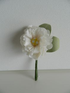 Small Paper Carnation Buttonhole  replace yellow with purple