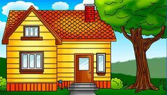Small house drawing dream house for kids dream house drawing for children how to draw a . House Drawing For Kids, Dream House Drawing, Dream House Interior, Dream Home Design, Modern Balcony, Construction, Art Lessons Elementary, Painting Lessons, Painting Tips