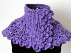 Crochet : Cuello en Morado #1.  Parte 2