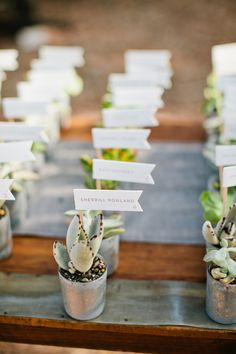 How cool are these place name ideas?! Photography by Birds of a Feather / birdsofafeatherphoto.com, Floral Design by Gilly Flowers / gillyflowers.com/