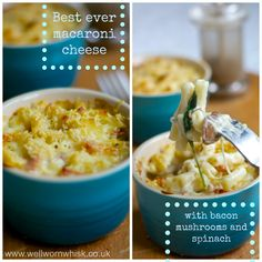 My 'Best ever macaroni cheese with bacon spinach and mushrooms' is a delicious family favourite | Well Worn Whisk