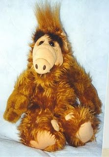 """ALF stuffed toy (as in the TV show """"ALF"""")- I had one of these. My daddy gave it to me. :)"""