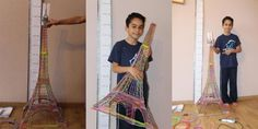 Ten-year-old creates a gorgeous 120cm tall Eiffel Tower with a 3D printing pen