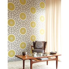 Suzani Wallpaper Collection (source Eijffinger) / Wallpaper Australia / The Ivory Tower Interior Wallpaper, Modern Wallpaper, Geometric Wallpaper, Room Wallpaper, Designer Wallpaper, Pattern Wallpaper, Grey And Yellow Living Room, Vintage Design, Retro Vintage