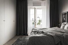 Черно-белый дизайн квартиры в Стокгольме (56 кв. м)   Пуфик - блог о дизайне интерьера