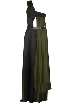 Black one shoulder flared gown available only at Pernia's Pop Up Shop.