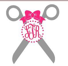 Hair stylist monogram