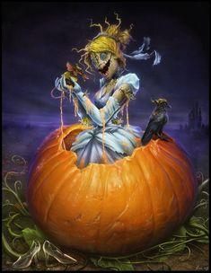 Evil Disney Princesses, Twisted Princesses, Creepy Disney, Disney Horror, Arte Horror, Horror Art, Disney Fan Art, Disney Love, Disney Girls
