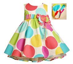 Bonnie Jean Baby Girls Multi-Color Polka Dot Birthday Balloon Party Dress 18M #BonnieBaby #BirthdayDressy