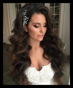 40 Gorgeous Wedding Hairstyles for Long Hair | Long wavy ... | WomanAdvise - WOMANADVISE.COM