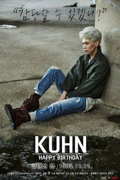 It's rookie Kuhn's birthday!Kuhn is turning 20 in Korea) on November and revealed two photos of Kuhn - a photo of him lo… Up10tion Wooshin, Korean K Pop, I Cant Help It, Fans Cafe, Bts And Exo, Btob, Vixx, Beautiful Babies, Shinee