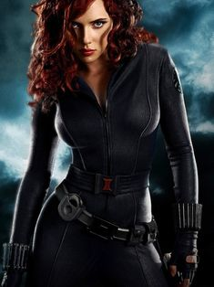 Black Widow. Favorite super-heroine from Marvel's The Avengers