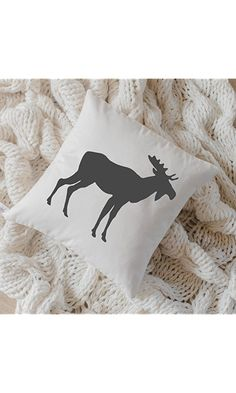 Pillow Cover - Moose, home decor, present, housewarming gift, cushion cover, throw pillow, cushion, pillow case Best Price