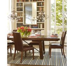 Love this table...Benchwright Extending Dining Table - Rustic Mahogany stain | Pottery Barn