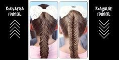 Reverse Fishtail Braid vs Regular Fishtail Braid | Cute Girls Hairstyles