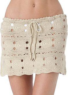 Crochet skirt PATTERN, resort crochet skirt pattern, sexy beach skirt. - favoritepatterns.com