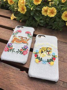 Gucci欧米ハイブランドグッチ個性DIY刺繍国際海外おしゃれデニム布ジーンズiphone8/7s